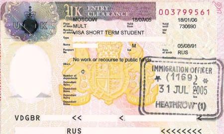Студенческая виза в Англию
