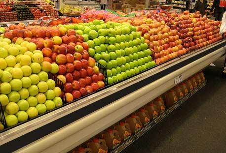 яблоки в американском супермаркете