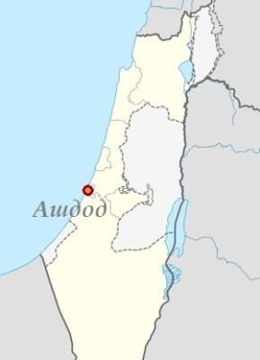 Ашдод на карте Израиля