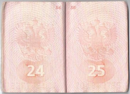 Заграничный паспорт с чистым разворотом