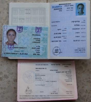 Документы гражданина Израиля