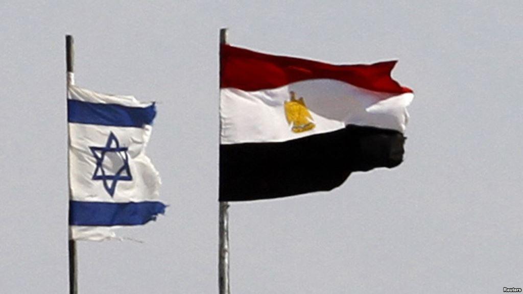 Флаги Египта и Израиля