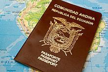 Паспорт Эквадора