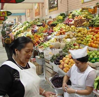 Центральный рынок в Кито