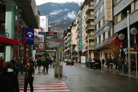 Торговый квартал в Андорре