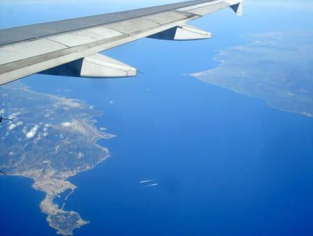Вид на Гибралтарский пролив с самолета