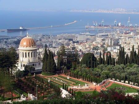 Вид на Хайфу в Израиле