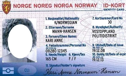 норвежская идентификационная карточка