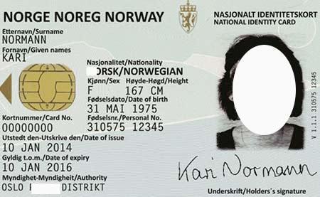 норвежская идентификационная карта