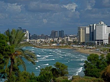 Вид на Тель-Авив в Израиле