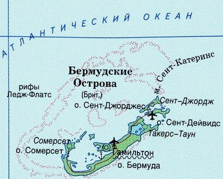 карта бермудских островов