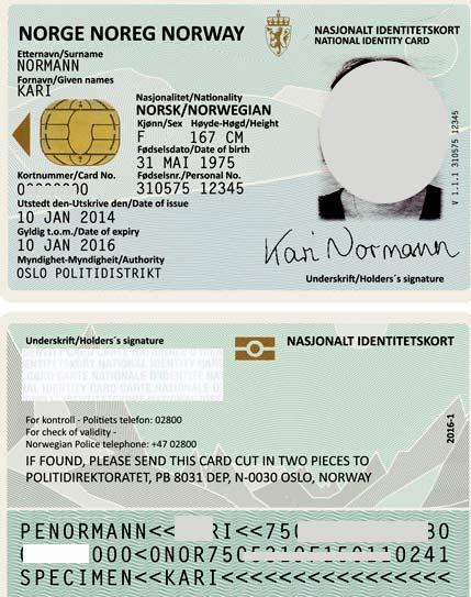 паспорт гражданина Норвегии