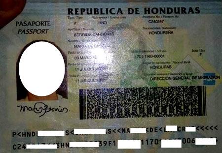 гондурасский паспорт