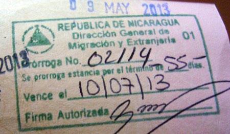 виза в Никарагуа