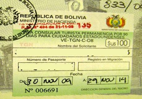 боливийская виза