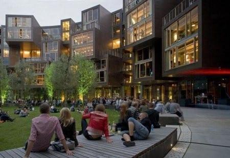 Студентческое общежитие в Дании