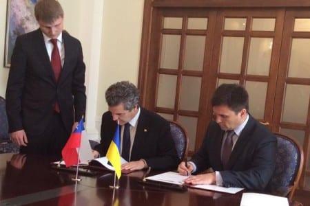 Подписание договора с Чили