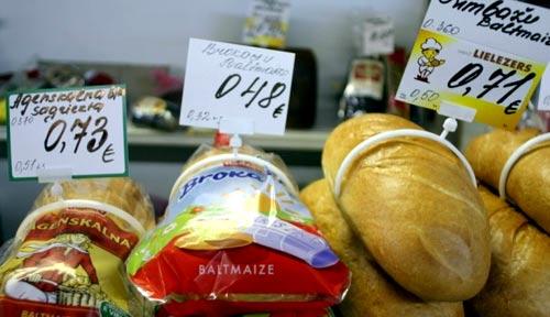 стоимость продуктов в Латвии