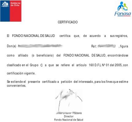 Образец пенсионного удостоверения в Чили