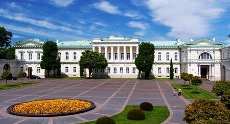 Здание Президентского дворца расположенного в Вильнюсе