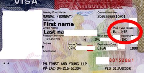 американская виза Н1В