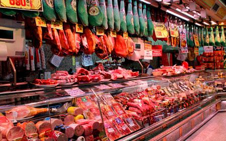 Мясной магазин в Литве