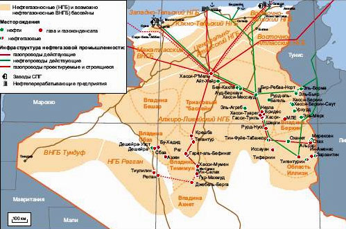нефть в алжире