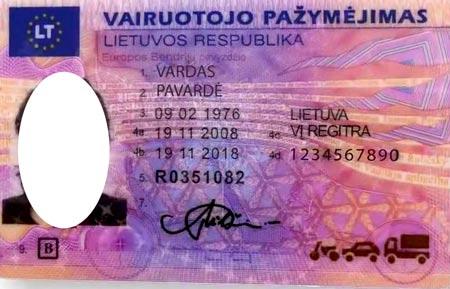 литовские водительские права