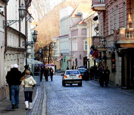 улица в Вильнюсе