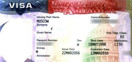 американская виза Н2
