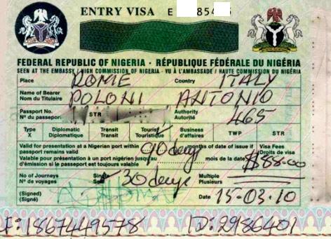 нигерийская рабочая виза