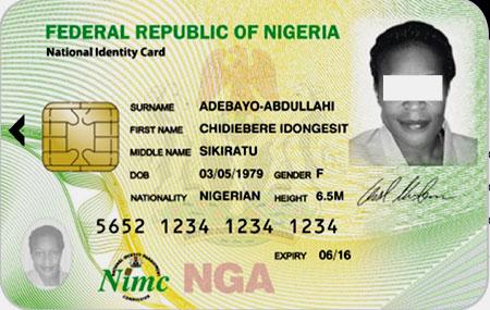 идентификационная карта в Нигерии