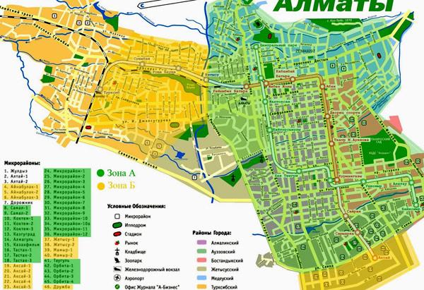 карта Алматы