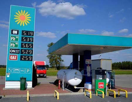 бензин в польше