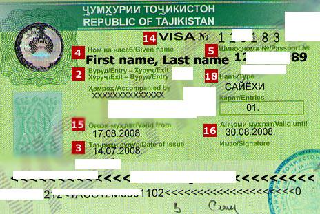таджикская деловая виза