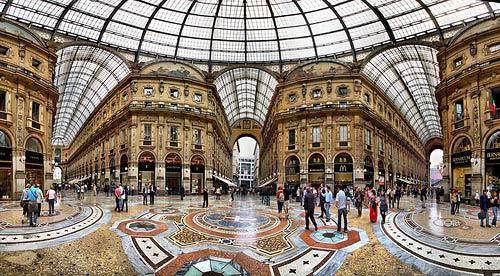 торговая галерея в Милане