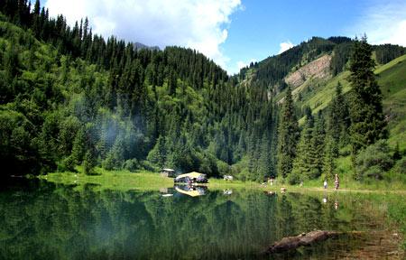 озеро Каинди, Казахстан