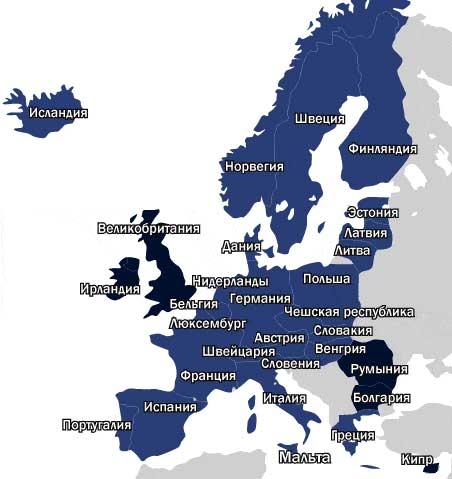 карта шенгена