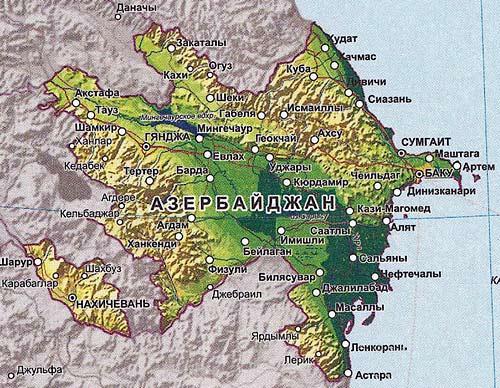 карта Азербайджана