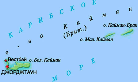 карта Кайман