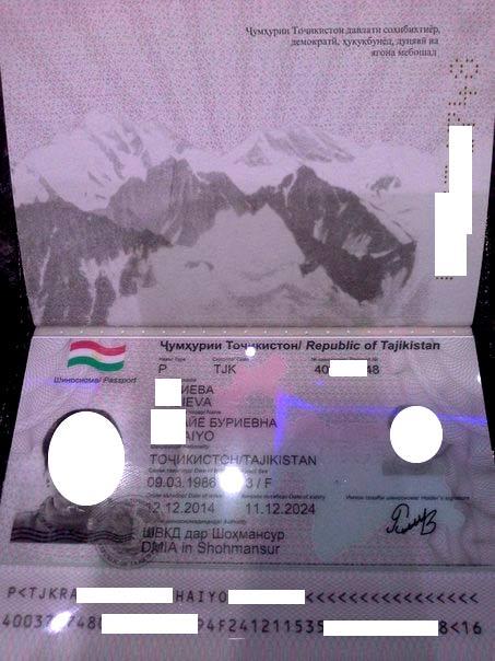 международный таджикский паспорт