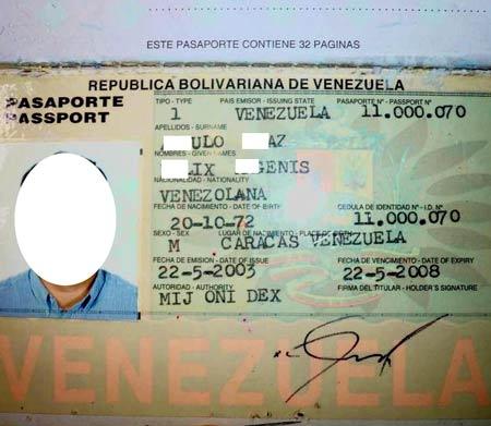 венесуэльский паспорт