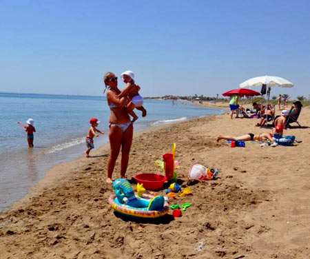 пляж на северном кипре