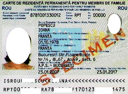 карточка резидента в румынии