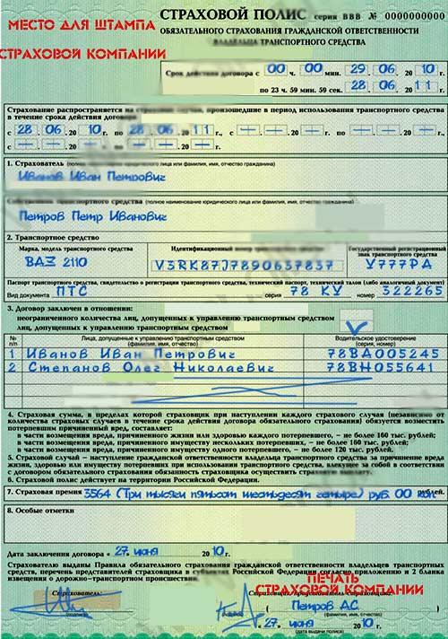 российский страховой полис