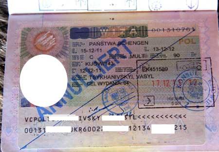 польская шенгенская виза