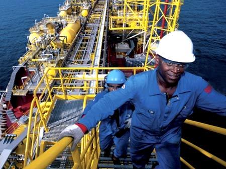 работа на танкере в Анголе