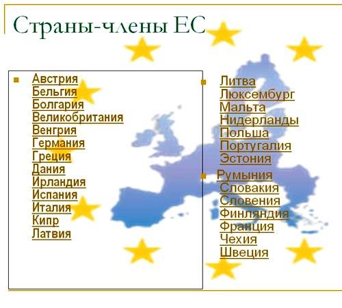 страны ЕС