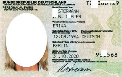идентификационная карта в Германии