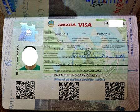 виза в Анголу
